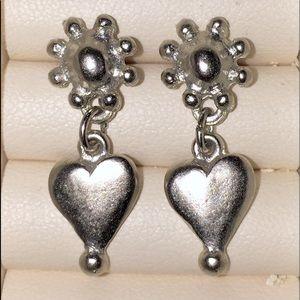 Vintage EXPRESS silver earrings
